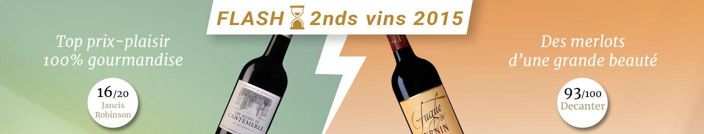 OFFRE FLASH : Battle rive gauche VS rive droite sur des 2nds vins du millésime 2015