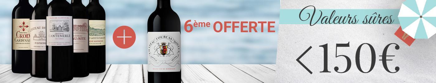 """Panachez les 6 bouteilles de cette sélection """"valeurs sûres"""" ➡️ - de 150€ grâce à la 6ème offerte"""