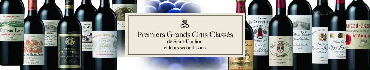 1ers Grands Crus Classés de Saint-Émilion et leurs seconds vins
