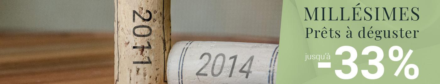 Prêt à déguster  |  Millésimes 2011 à 2014
