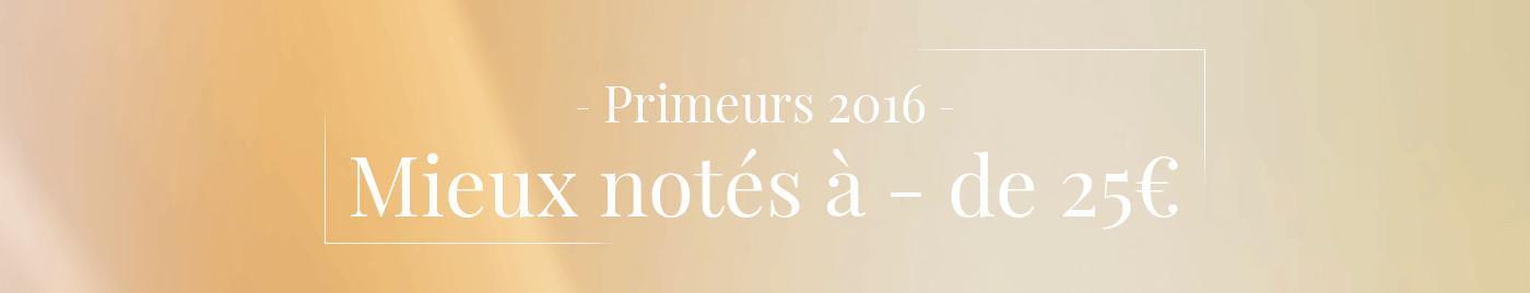 Primeurs 2016 : Mieux notés < 25€