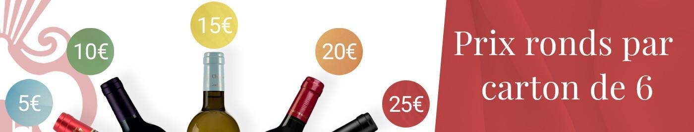 Carton de 6 à prix rond = 5€ - 10€ - 15€ - 20€ - 25€