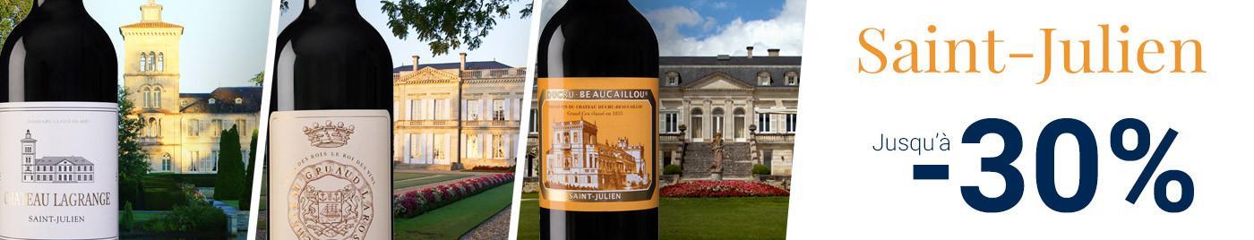 Saint-Julien : Grands Crus et Seconds vins