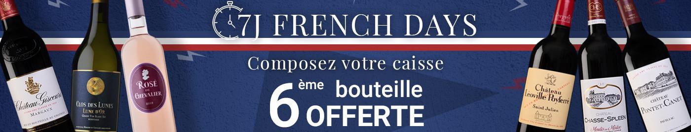 Spécial French Days  |  Composez votre carton = 6ème bouteille OFFERTE