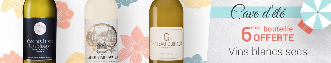Vins blancs d'été = 6ème bouteille OFFERTE