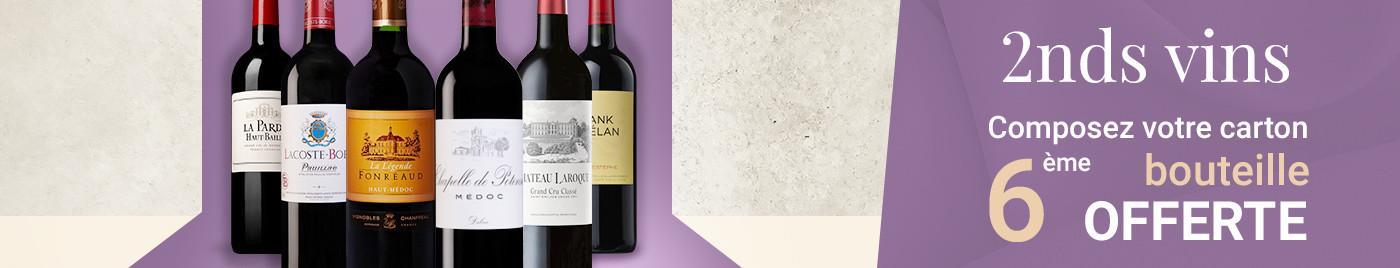 Wine Week | 2nds vins = 6ème bouteille OFFERTE au choix