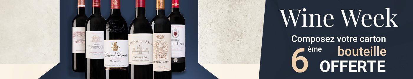 Wine Week    Composez votre carton = 6ème bouteille OFFERTE au choix