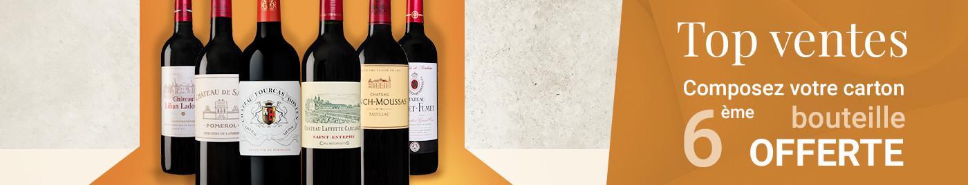 Wine Week  |  Top Ventes = 6ème bouteille OFFERTE au choix