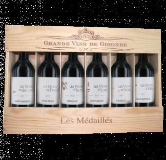 """Coffret """"Les Vignes"""" Médaillés - 6 Appellations de Bordeaux 2010"""